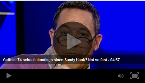 Greg Gutfeld mentions John Lott's work in discussing Bloomberg's false 74 school shootings since Sandy Hook claim
